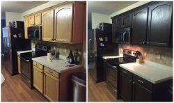 Small Of Espresso Kitchen Cabinets