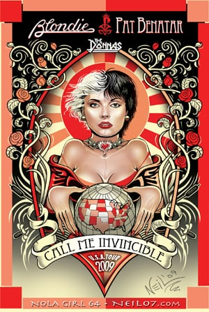 call me invincible tour 2009 poster