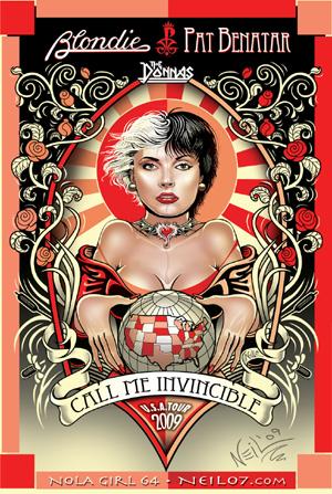 call me invincible tour 2009 poster