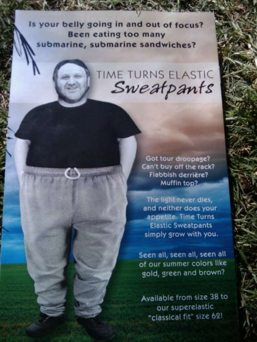 TTE sweatpants ad