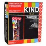 KIND PLUS, Dark Chocolate Cherry Cashew + Antioxidants, Gluten Free Bars (Pack of 12)