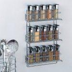 Organize It All 3-Tier Wall-Mounted Spice Rack