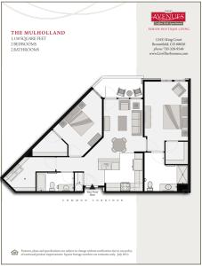 Mulholland: 2bed 2bath - Floorplan