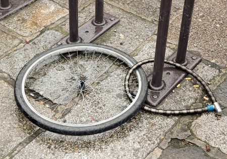 us gps to recover  stolen bike, wheel and padlocks left on the spot