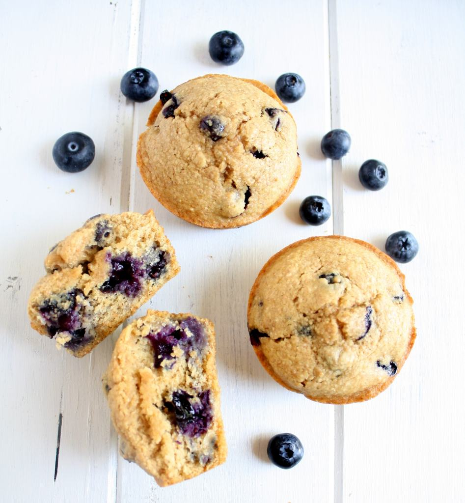 Whole Wheat-Blueberry Muffins Recipe — Dishmaps