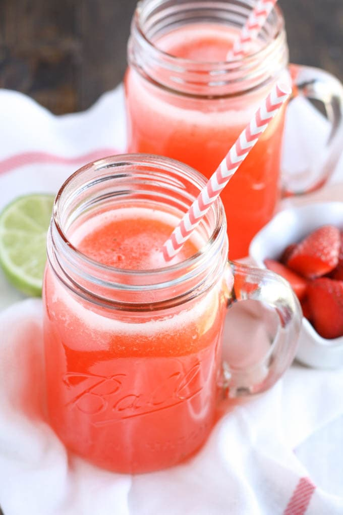 Cherry Limeade Slushies Recipe — Dishmaps