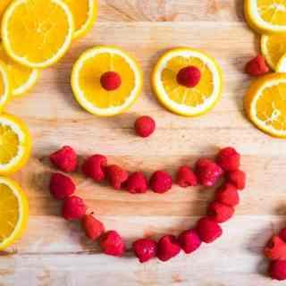 Orange & Raspberry Infused Water