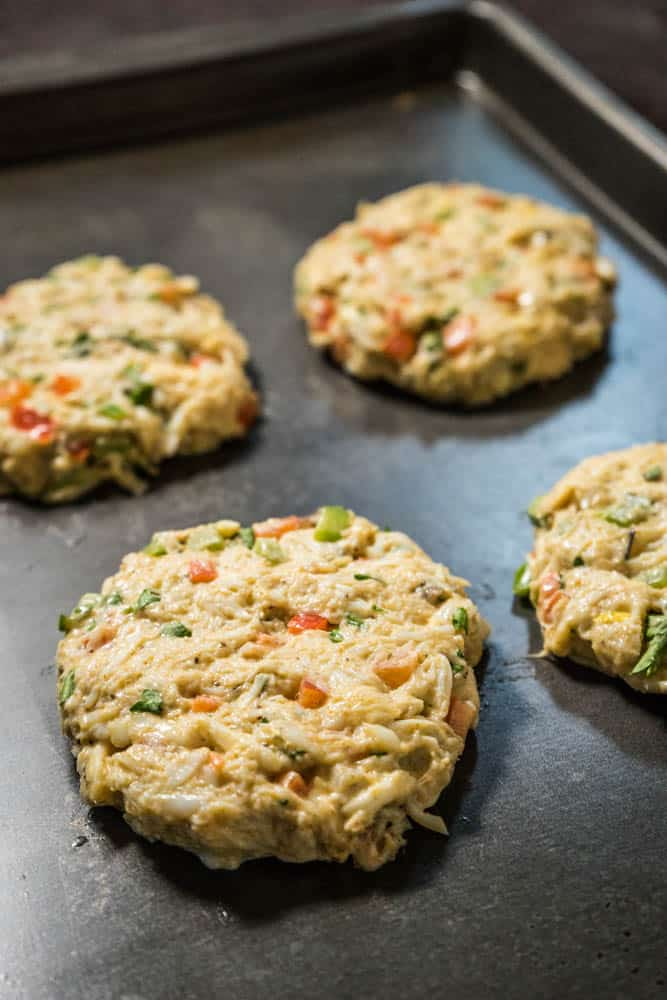 Low Carb Crab Cakes Uncooked