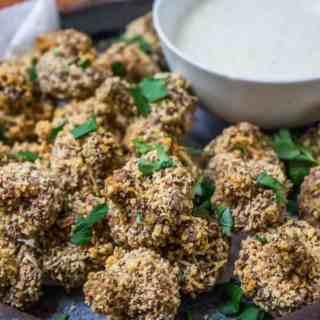 Almond Crumbed Mushrooms