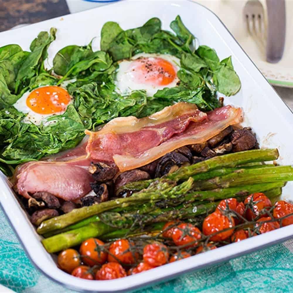 One Pan Full Monty Breakfast