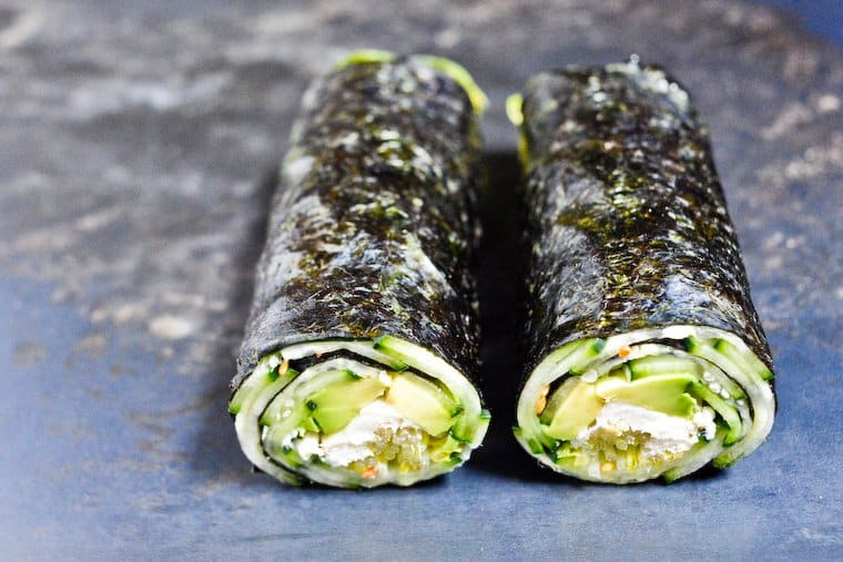 Quick Nori Rolls with Cucumber and Avocado