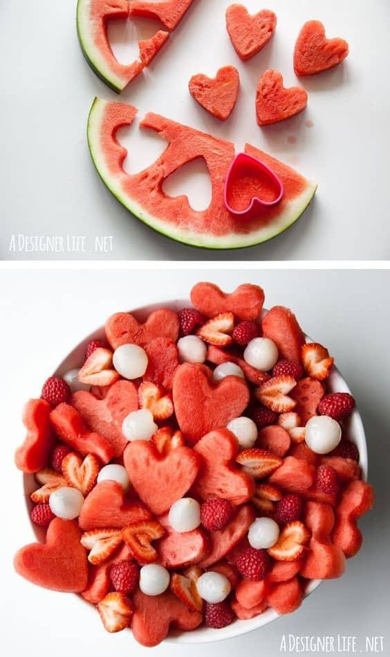 Valentine's Day Fruit Salad