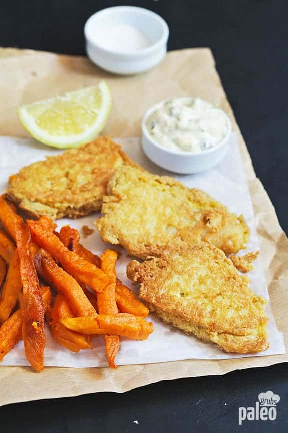 Healthy Fish and Sweet Potato Chips