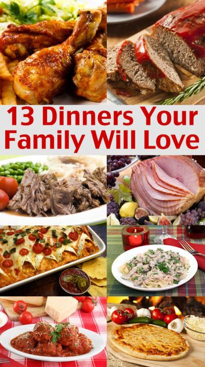 Easy Family Menu Ideas - Dinners Your Family Will Love
