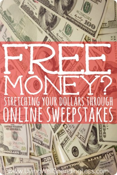 Earn Money with Free Online Sweepstakes | Living Well Spending Less®