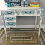 Shabby Chic Two Toned desk- Lizmarieblog.com