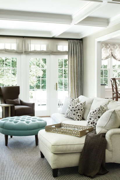 Decorating with color turquoise for Neutral decor with pops of color