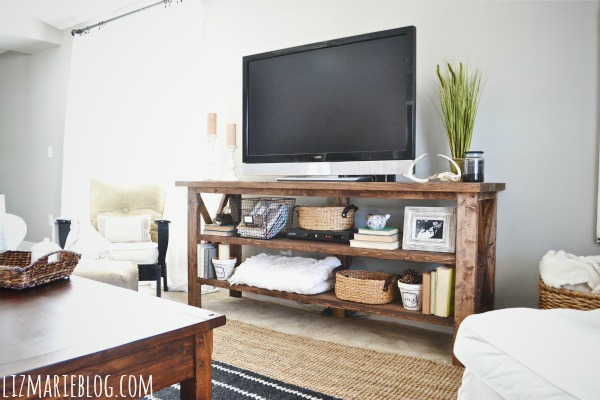 woodwork diy wood tv stand pdf plans