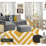 Industrial Gray & Yellow Media Room