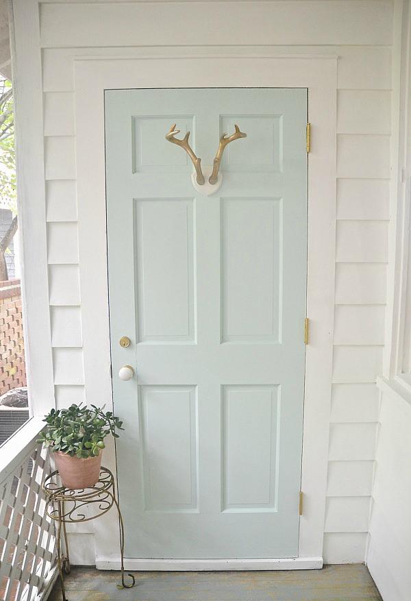 Mint door makeover