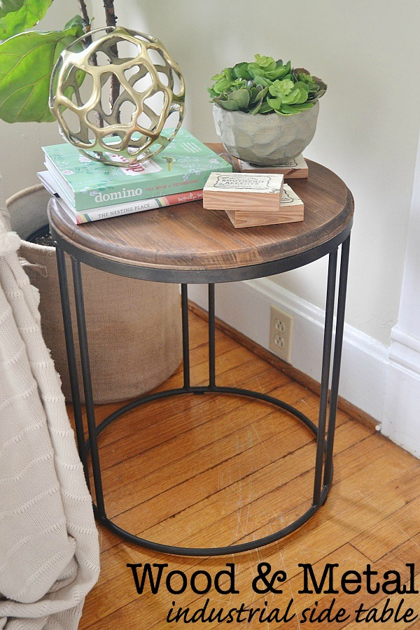 Wood & Metal Industrial table - lizmarieblog.com