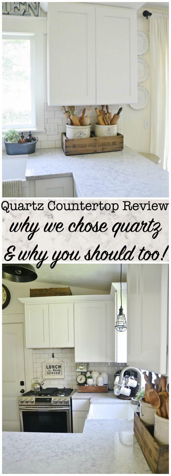 quartz countertop review pros cons liz marie bloglovin. Black Bedroom Furniture Sets. Home Design Ideas