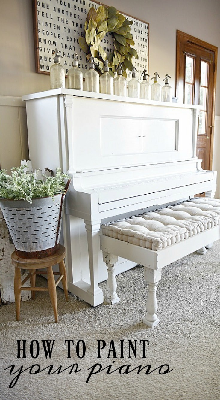 How To paint your piano: An easy update for any old piano & how to make it fit your home decor style.