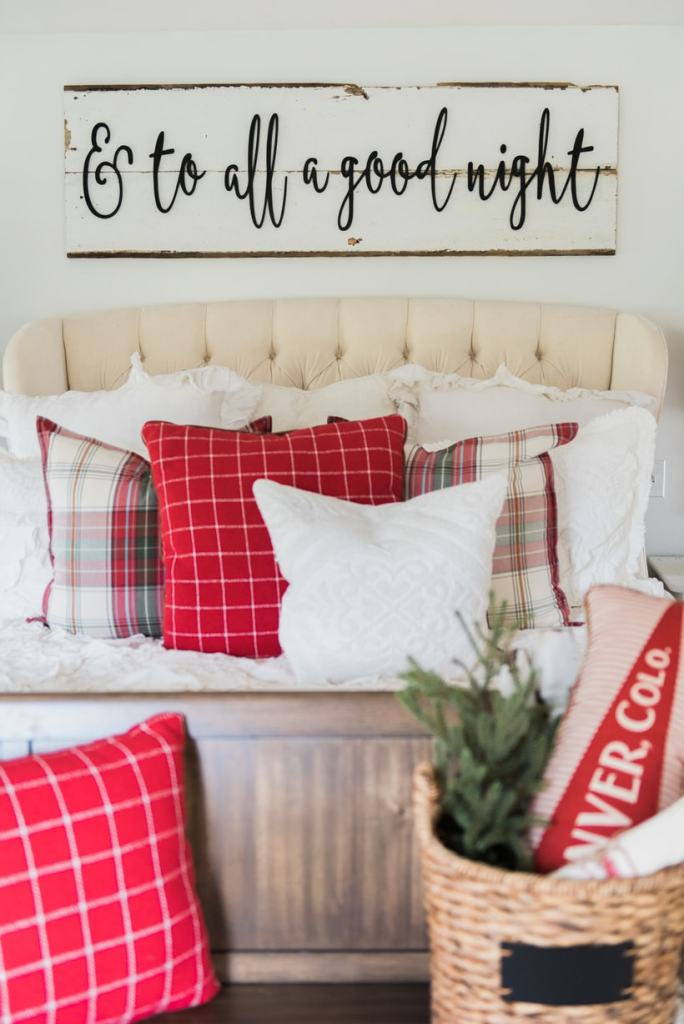 A Cozy Cheerful Farmhouse Christmas Bedroom Liz Marie Blog