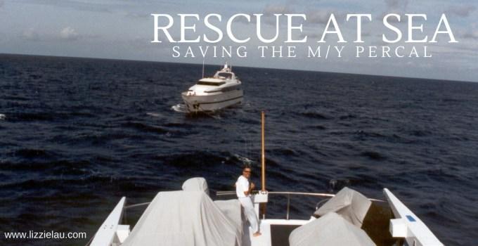 RESCUE AT SEA saving the motor yacht Percal