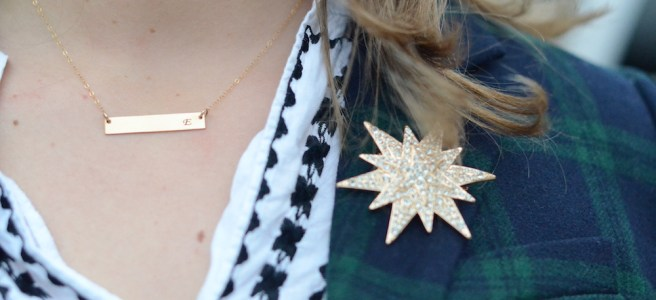 Sisi Star brooch and bar necklace