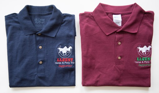 adults polo blue and burgundy