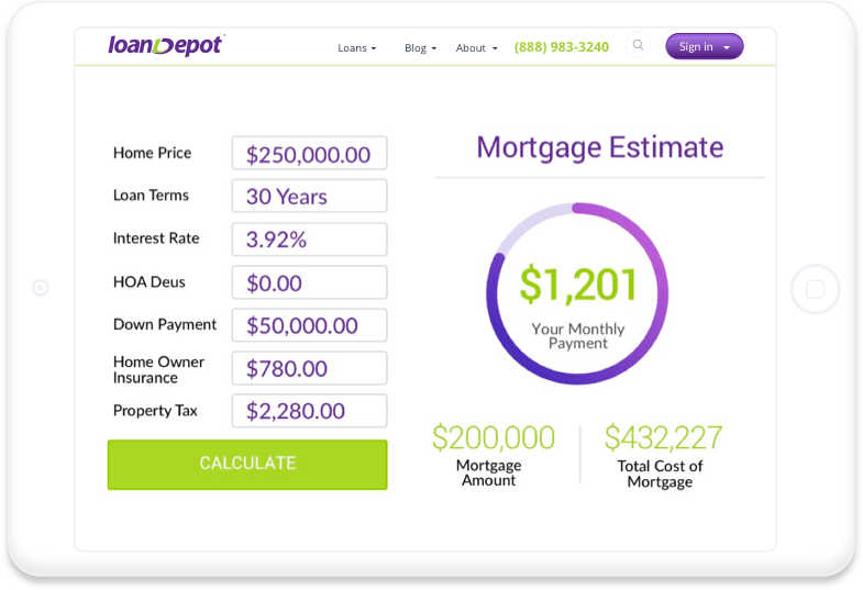 Online Mortgage: Loan Depot Online Mortgage Payment