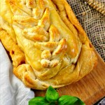 Cream Cheese with Tomatoes and Pesto Pastry