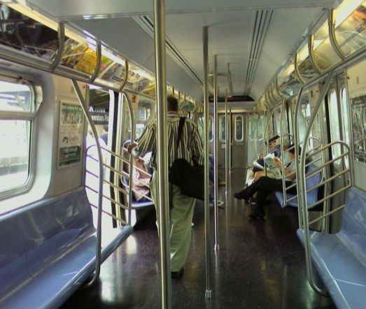 Interior of Kawasaki trains in NYC