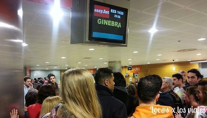 Pasajeros del vuelo a Ginebra