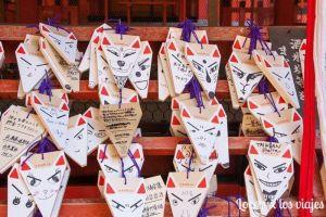Tablas para dejar deseos en Fushimi Inari-Taisha