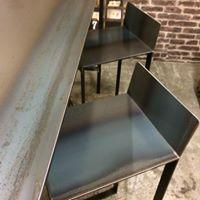 Table haute acier