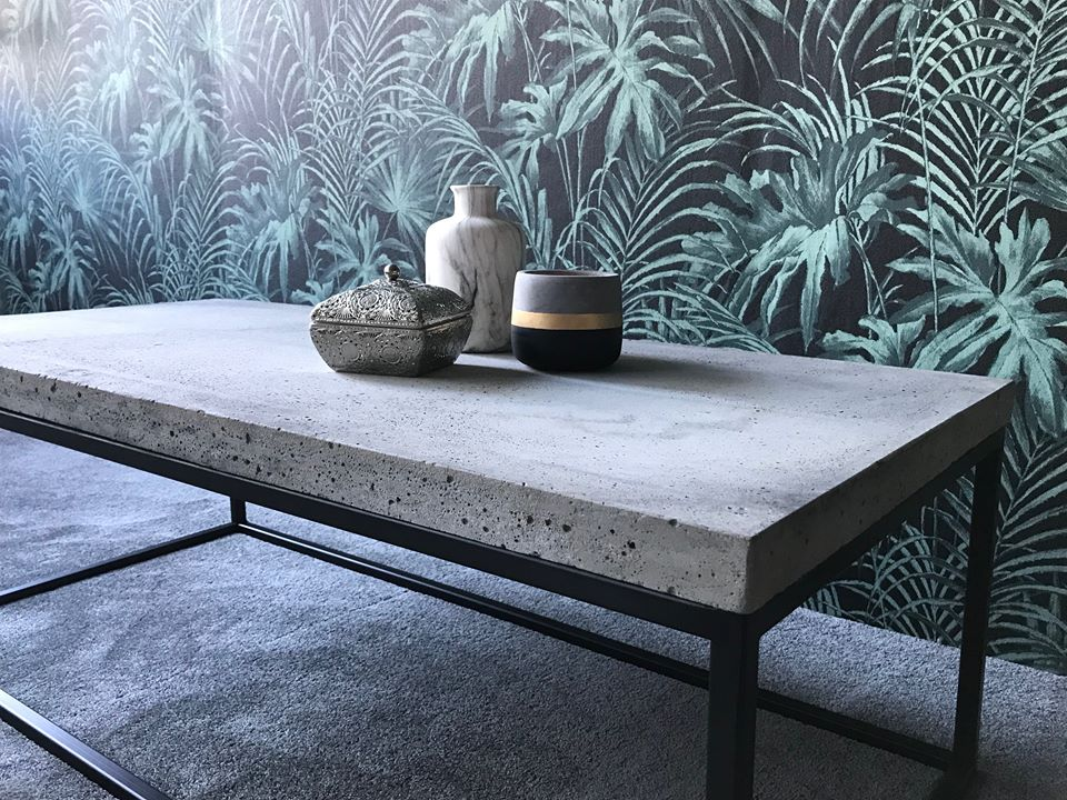 Table basse béton