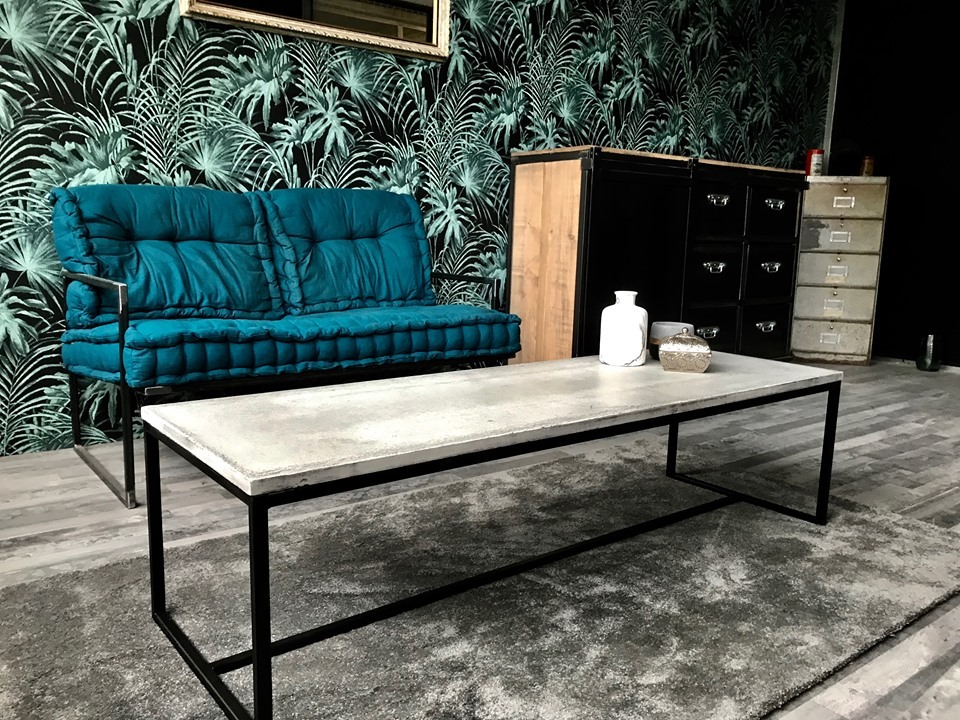 Table basse béton industriel
