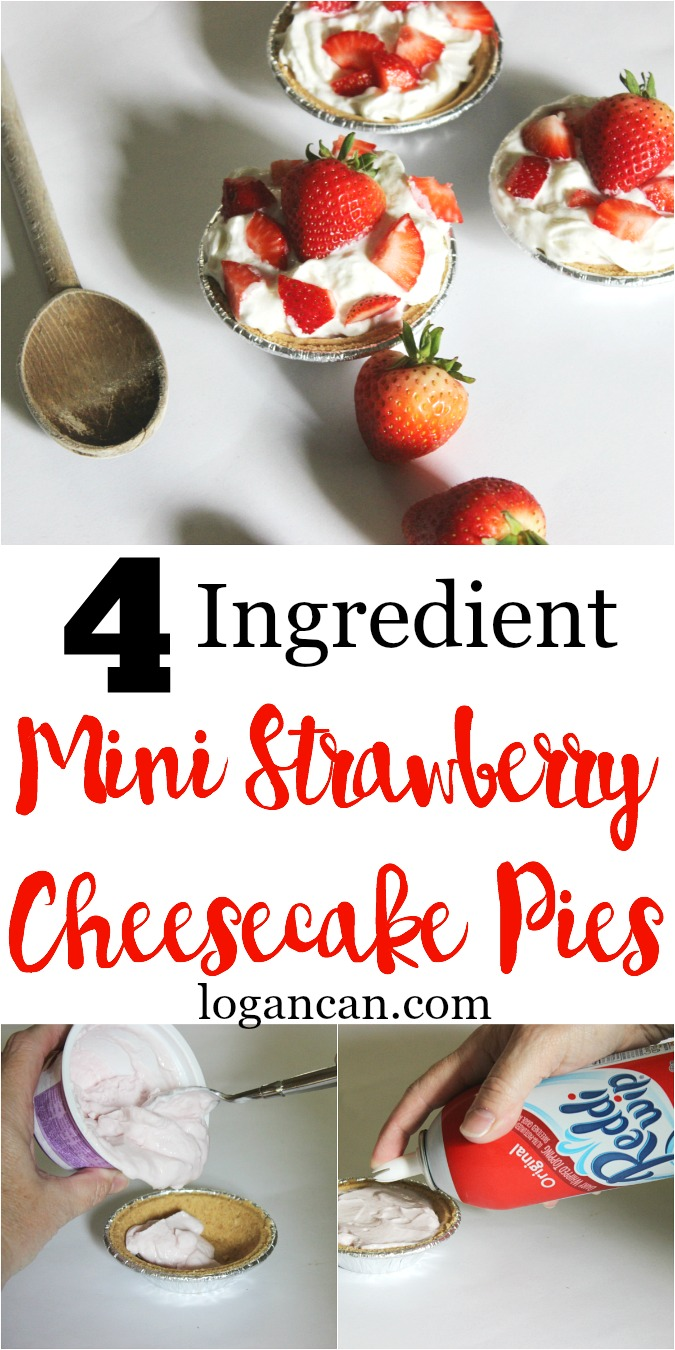 4 Ingredient Strawberry Cheesecake Mini Pie Recipe