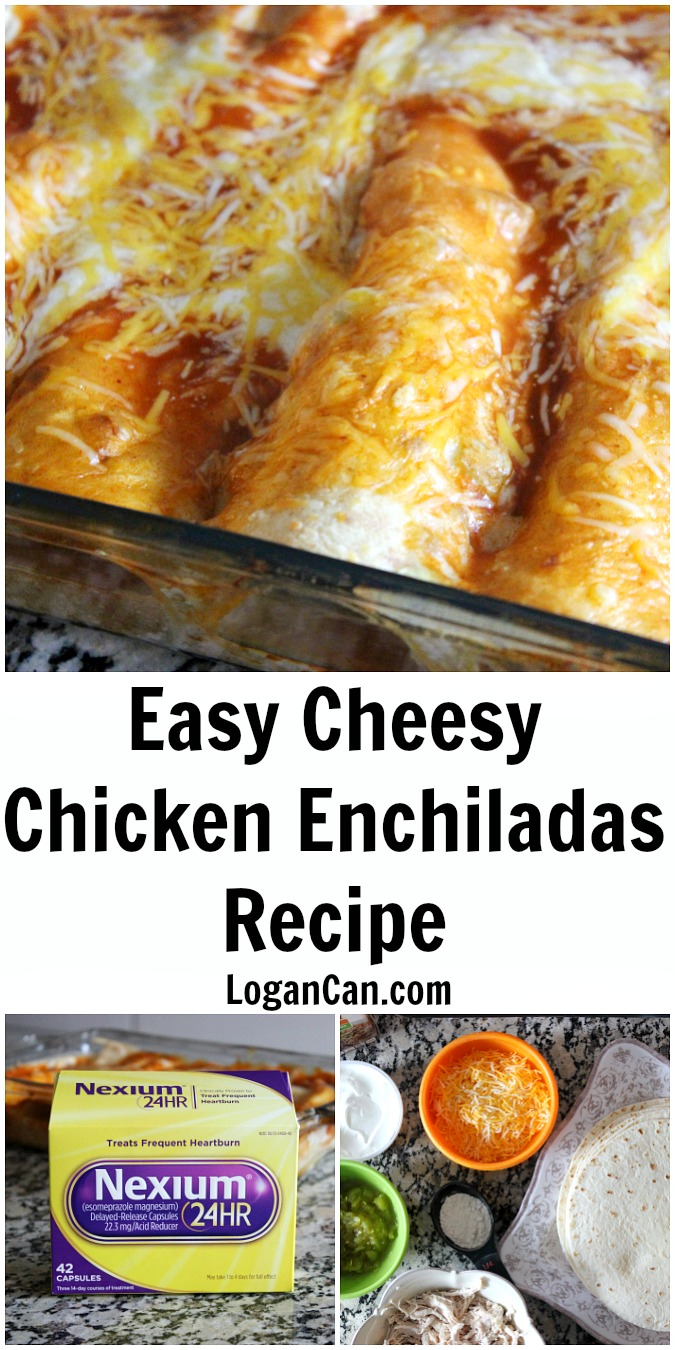 Easy Cheesy Chicken Enchiladas Recipe LoganCan.com