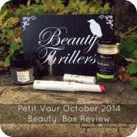 Petit Vour October 2014 Beauty Box Review