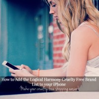 How to Add the Logical Harmony Cruelty Free Brand List to your iPhone