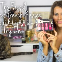 Too Faced French Kisses Melted Lipstick Holiday Set Try On Video