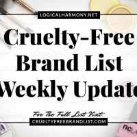 Cruelty-Free Brand List Weekly Update