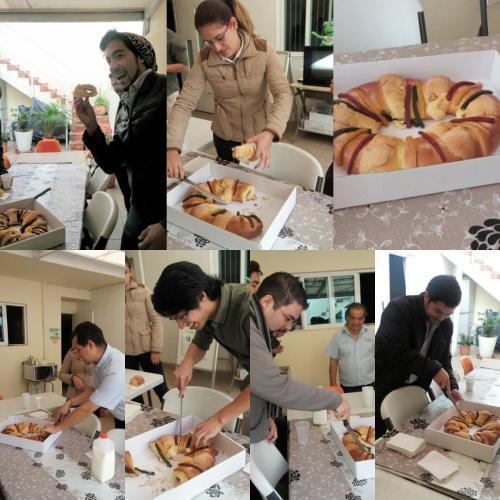 Partiendo la Rosca de Reyes