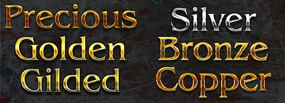 my precious gold gilded silver bronze copper style