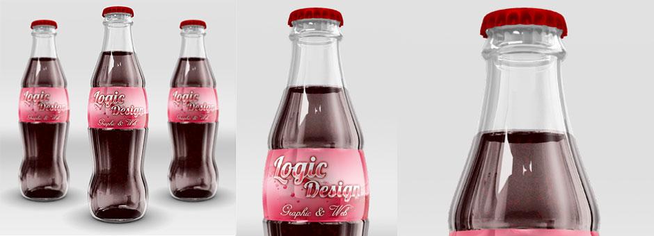 Cola Bottle Mock-Up