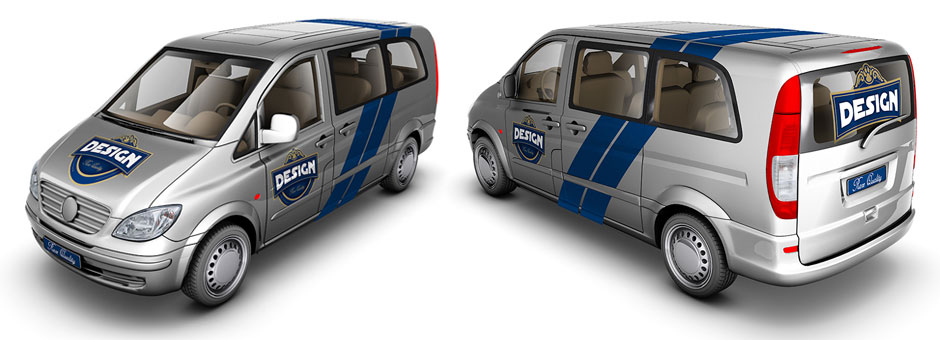light van car mock up