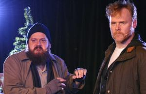 "Joey Bybee and John Flynn in ""The Unauthorized Musical Parody of Home Alone"" (Abel Armas Photography)"